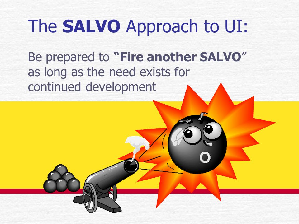 Why develop UIs with SALVO.