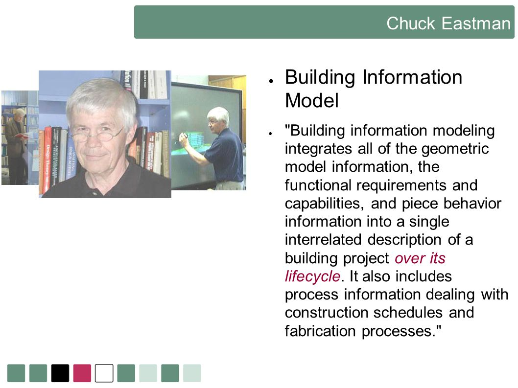 Chuck Eastman Building Information Model