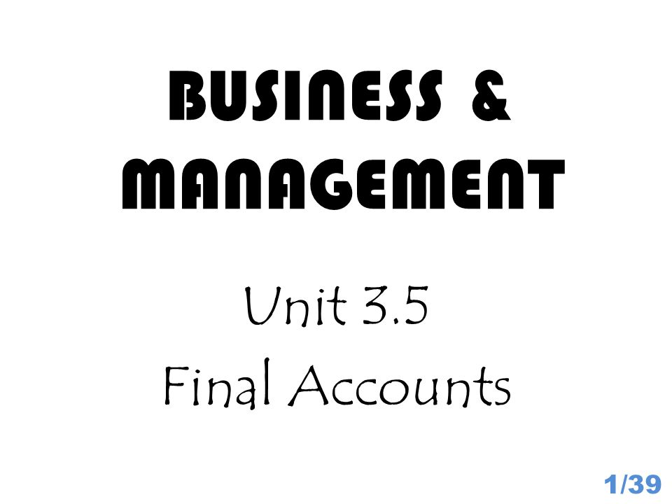 Capital and Reserves 32/39 Capital and Reserves are money owed to the owners so it is considered a liability.