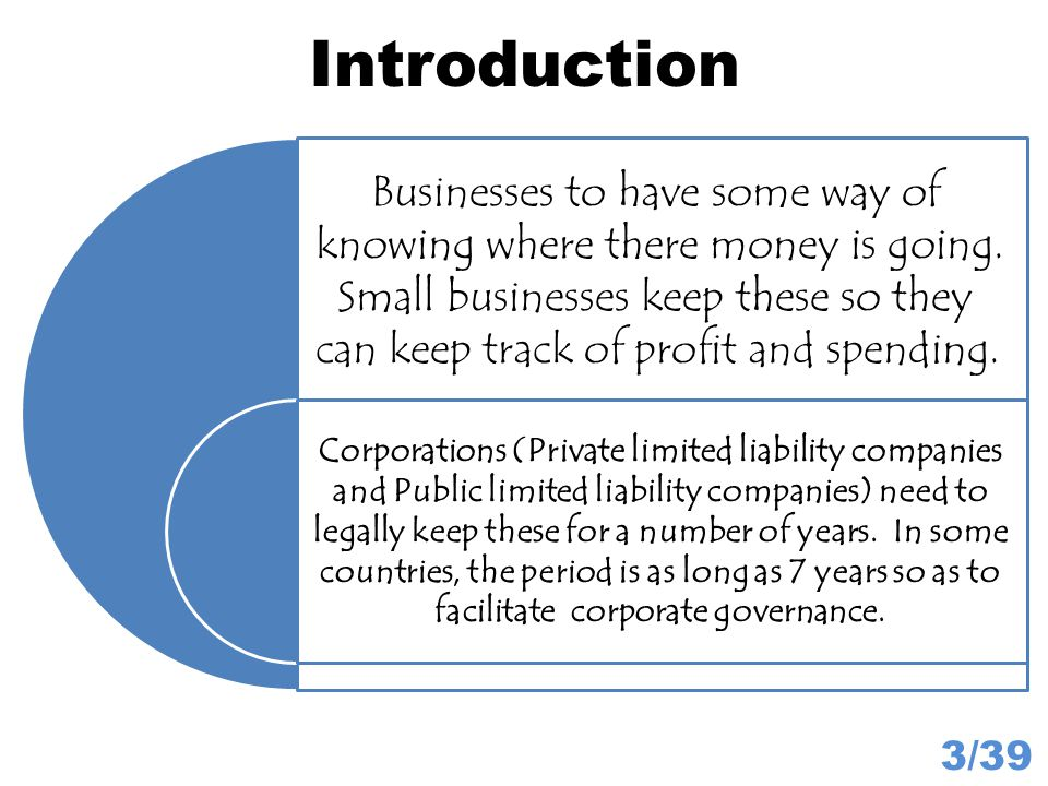 Uses of Balance Sheets 34/39 From the Working Capital figure, businesses can see how much money they have to play with.