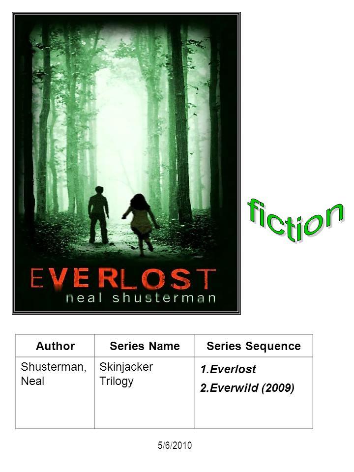 AuthorSeries NameSeries Sequence Shusterman, Neal Skinjacker Trilogy 1.Everlost 2.Everwild (2009) 5/6/2010