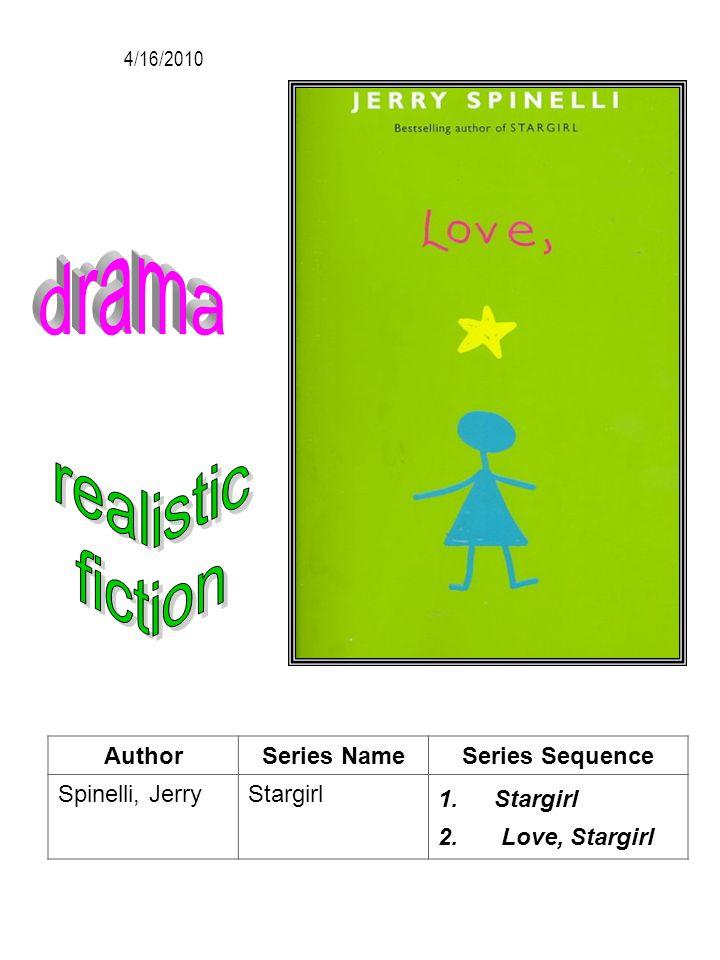 AuthorSeries NameSeries Sequence Spinelli, JerryStargirl 1.Stargirl 2. Love, Stargirl 4/16/2010