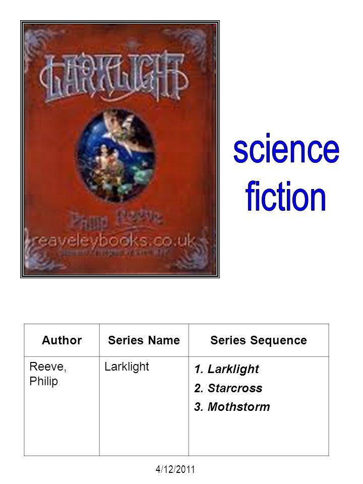 AuthorSeries NameSeries Sequence Reeve, Philip Larklight 1. Larklight 2. Starcross 3. Mothstorm 4/12/2011