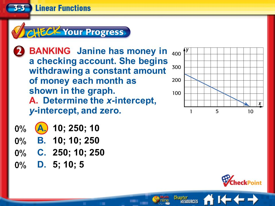 BANKING Janine has money in a checking account.