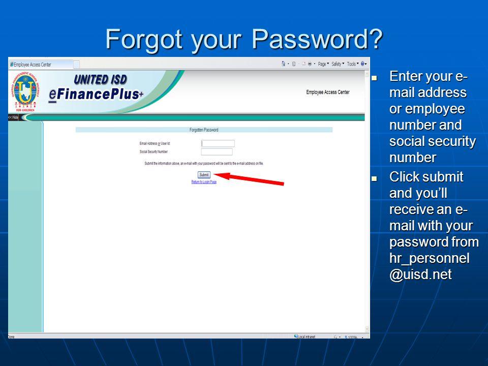Forgot your Password.