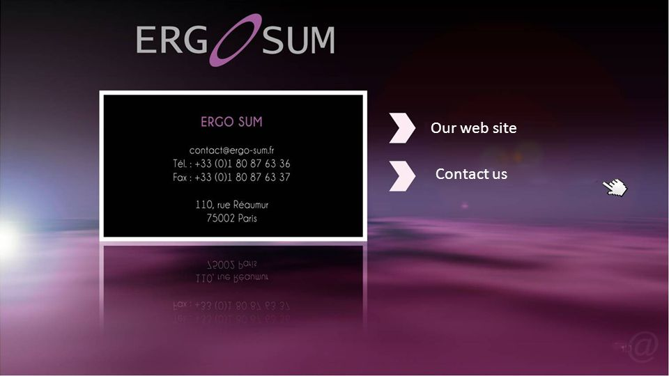 Our web site Contact us