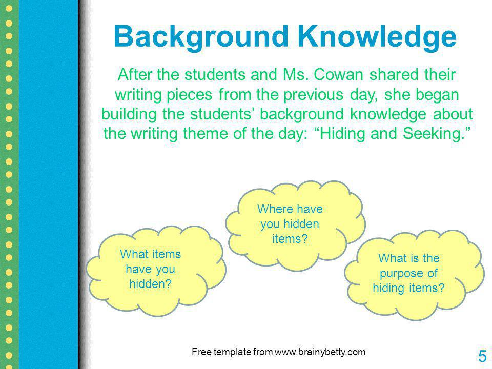 Free template from www.brainybetty.com 5 After the students and Ms.