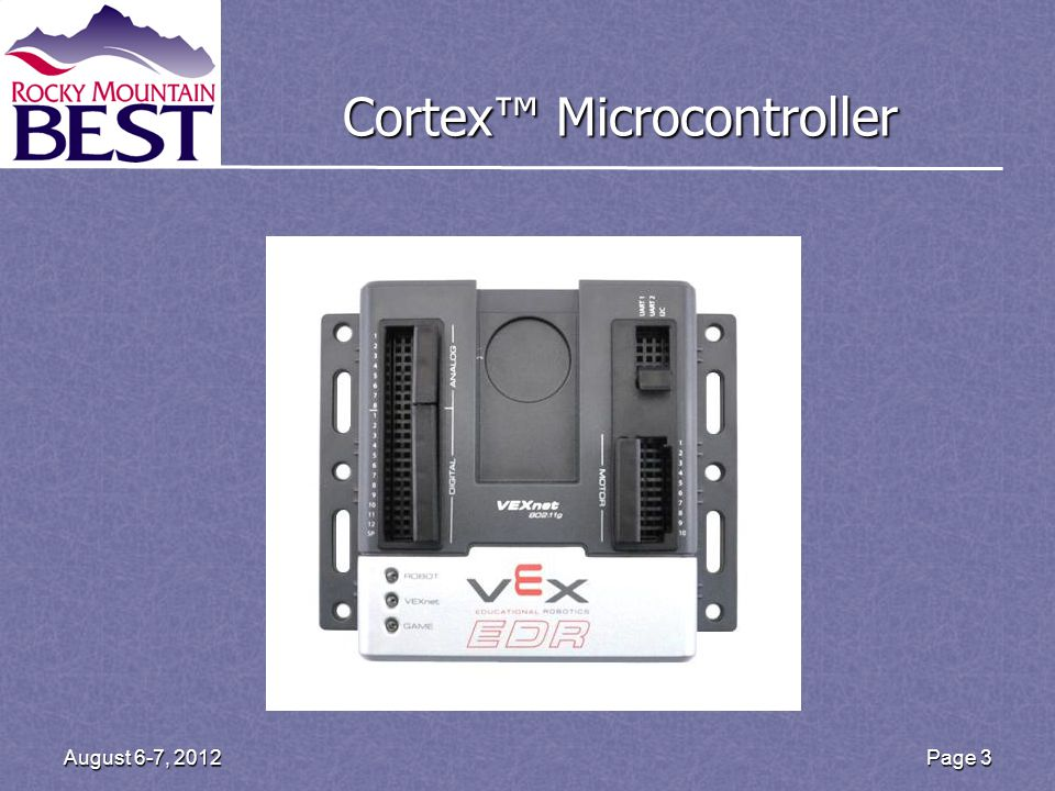 Cortex Microcontroller Page 3August 6-7, 2012