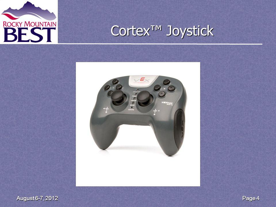 Cortex Joystick Page 4August 6-7, 2012