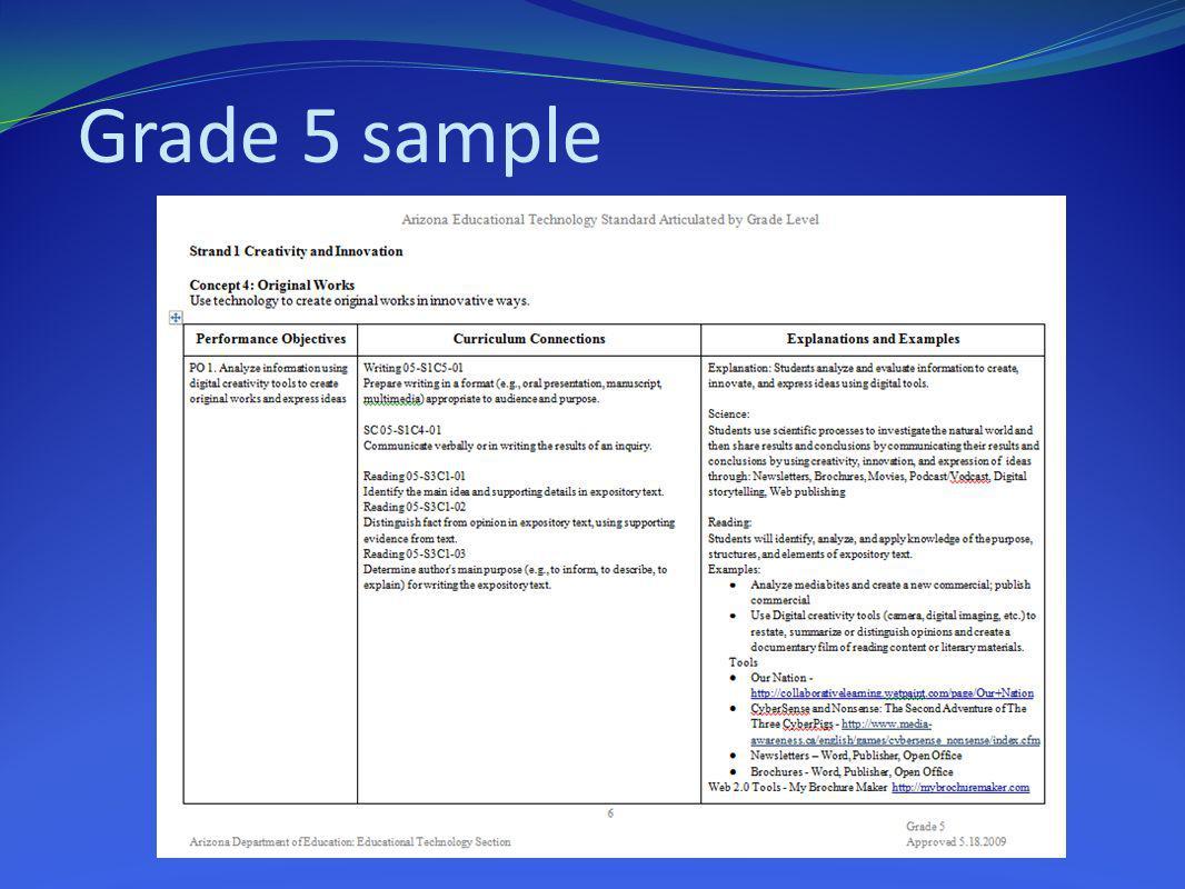 Grade 5 sample