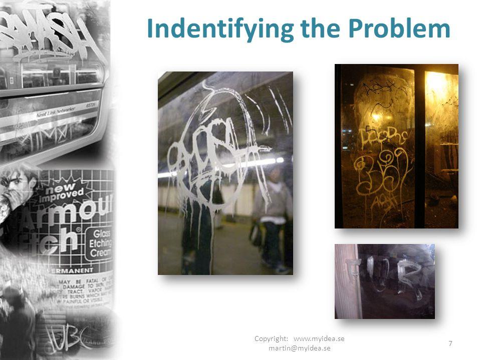 Copyright: www.myidea.se martin@myidea.se 7 Indentifying the Problem