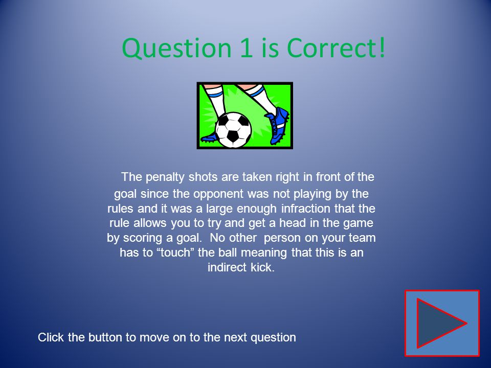 Click on the correct star to show where penalty shots would be taken.