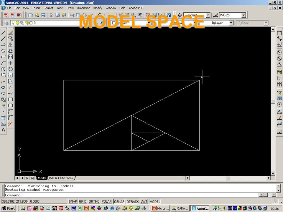 Ahmed Kovacevic, City University London Design web Model space l There are two main domains within an Autocad, MODEL space and PAPER space. l MODEL sp
