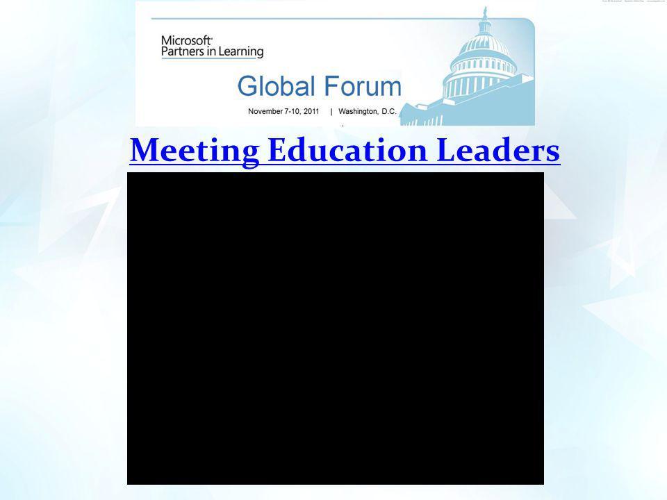 Meeting Education Leaders