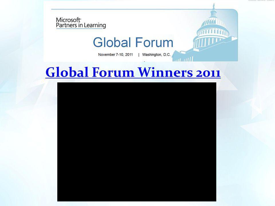 Global Forum Winners 2011