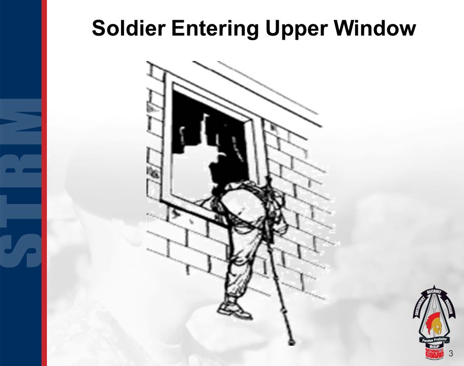 3 Soldier Entering Upper Window