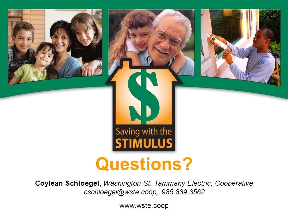 Questions. Coylean Schloegel, Washington St.