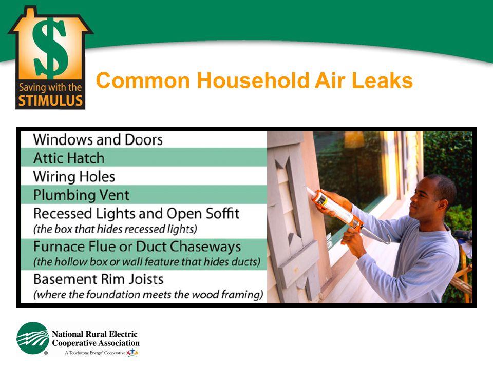 Common Household Air Leaks