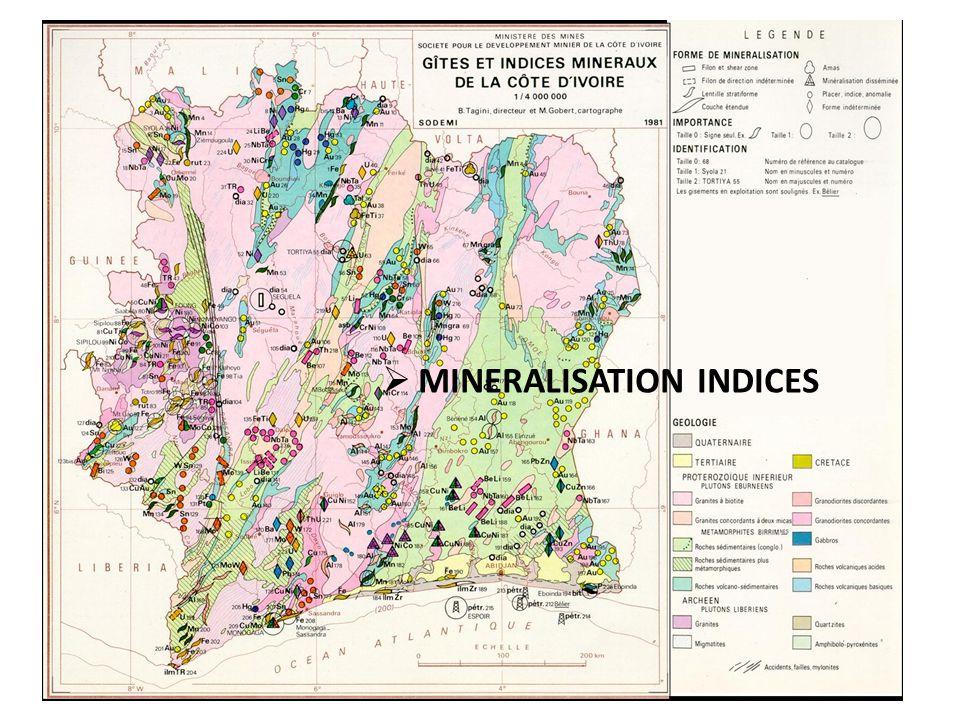 15 MINERALISATION INDICES