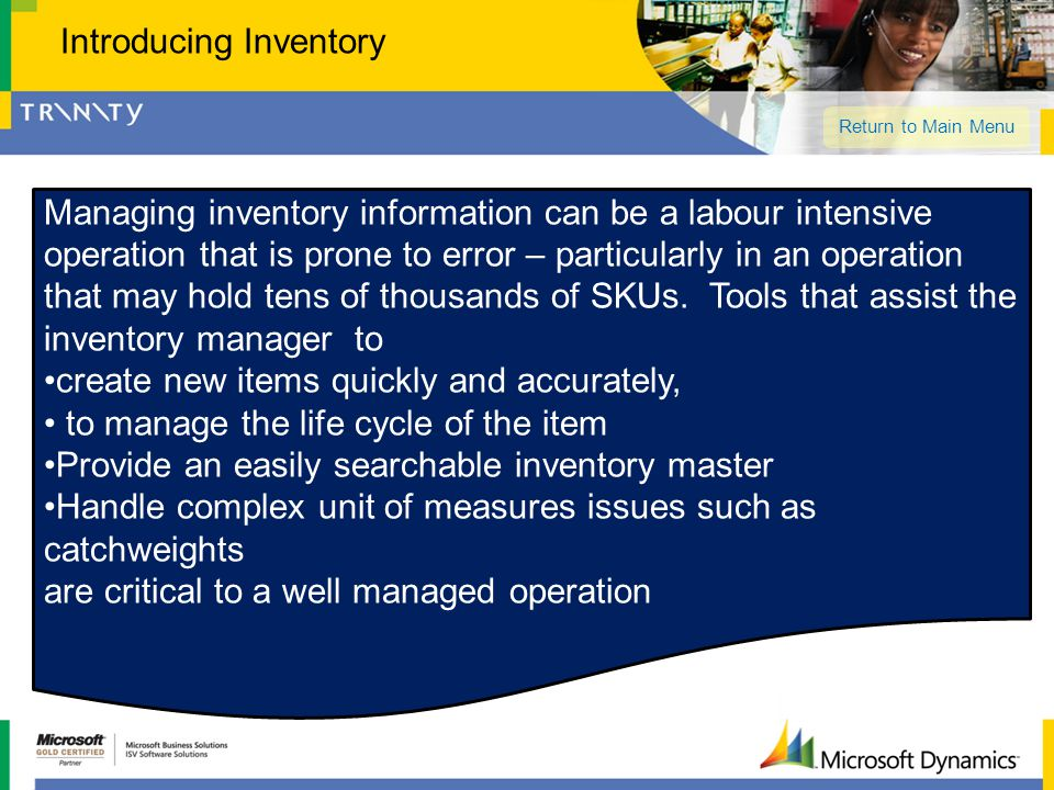 Managing inventory information can be a labour intensive operation that is prone to error – particularly in an operation that may hold tens of thousan
