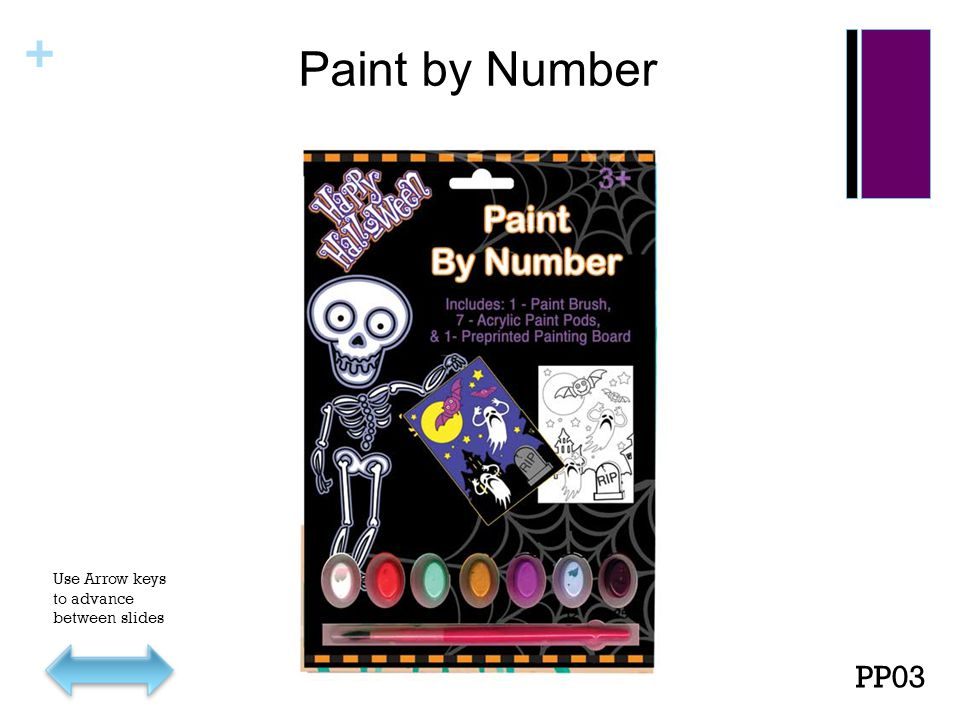 + Paint by Number PP03 Use Arrow keys to advance between slides