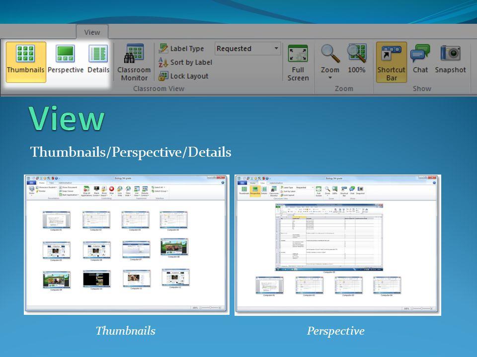 Thumbnails/Perspective/Details ThumbnailsPerspective