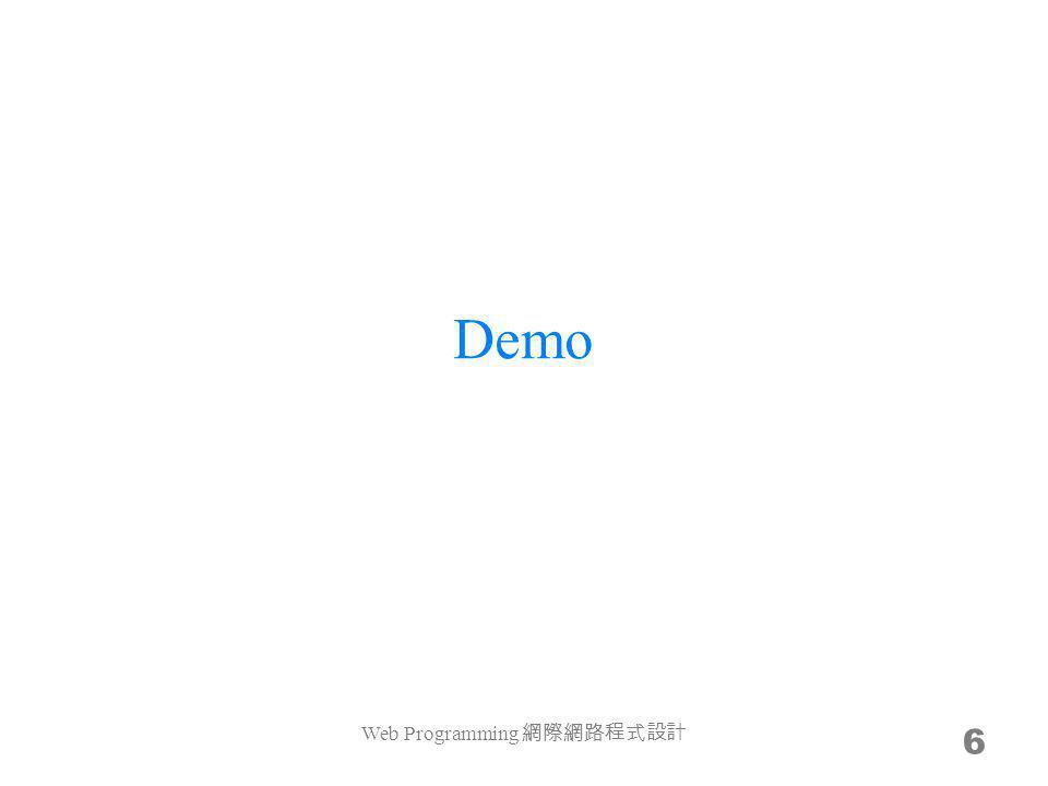 Demo 6 Web Programming