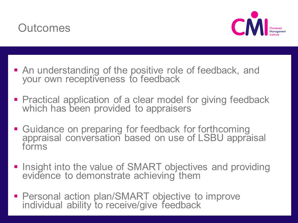 S M A R T Objectives Specific ̶ specify exactly what you should be able to achieve ̶ no vague or ambiguous language.