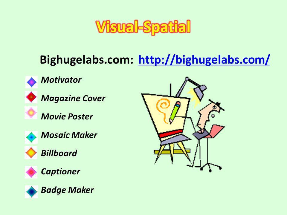 Bighugelabs.com: http://bighugelabs.com/http://bighugelabs.com/ Motivator Magazine Cover Movie Poster Mosaic Maker Billboard Captioner Badge Maker