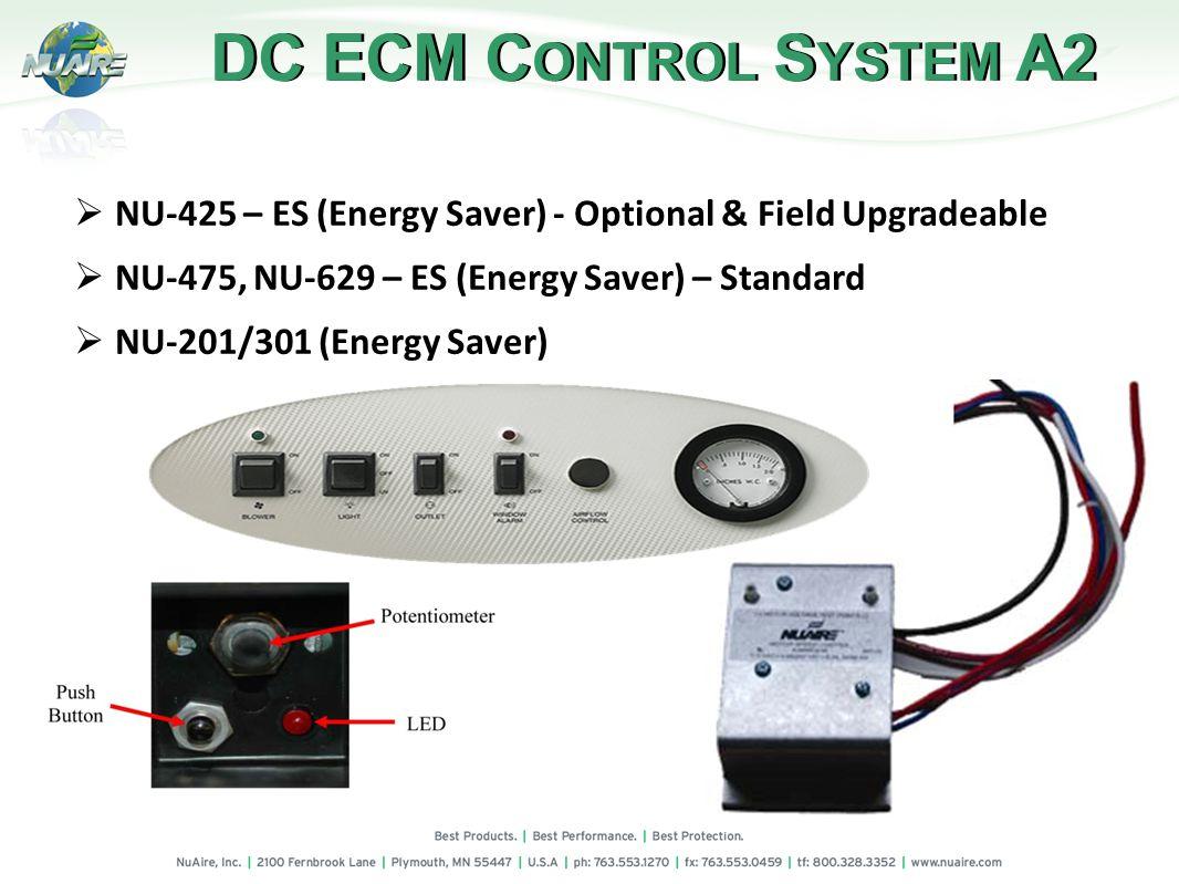 DC ECM C ONTROL S YSTEM A2 NU-425 – ES (Energy Saver) - Optional & Field Upgradeable NU-475, NU-629 – ES (Energy Saver) – Standard NU-201/301 (Energy Saver)