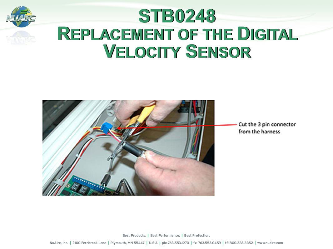 STB0248 R EPLACEMENT OF THE D IGITAL V ELOCITY S ENSOR STB0248 R EPLACEMENT OF THE D IGITAL V ELOCITY S ENSOR