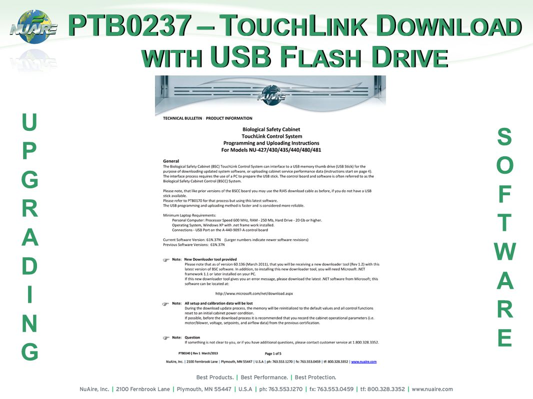 PTB0237 – T OUCH L INK D OWNLOAD WITH USB F LASH D RIVE PTB0237 – T OUCH L INK D OWNLOAD WITH USB F LASH D RIVE UPGRADINGUPGRADING SOFTWARESOFTWARE