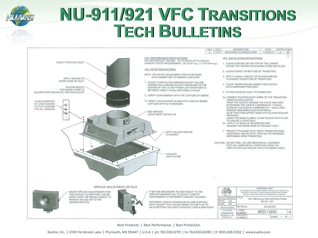 NU-911/921 VFC T RANSITIONS T ECH B ULLETINS NU-911/921 VFC T RANSITIONS T ECH B ULLETINS