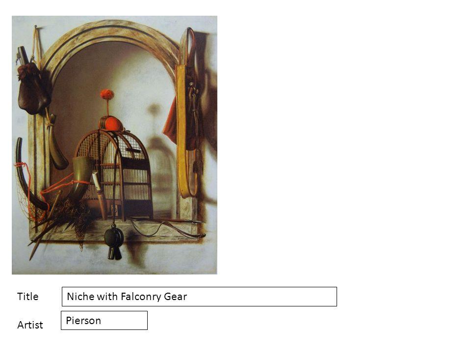 Title Artist Niche with Falconry Gear Pierson