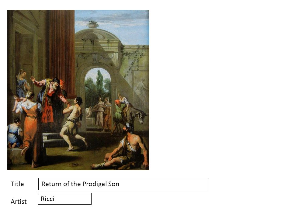 Title Artist Return of the Prodigal Son Ricci