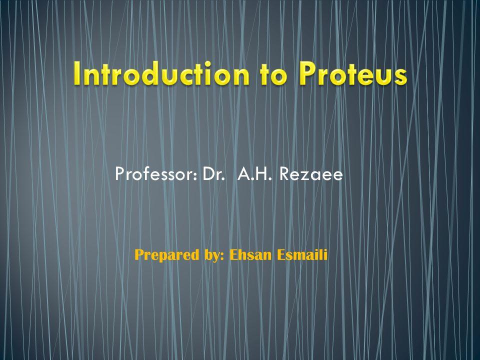 Professor: Dr. A.H. Rezaee Prepared by: Ehsan Esmaili