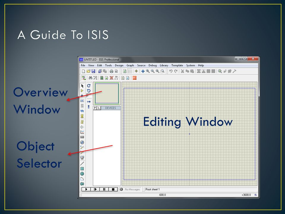 Editing Window Object Selector Overview Window