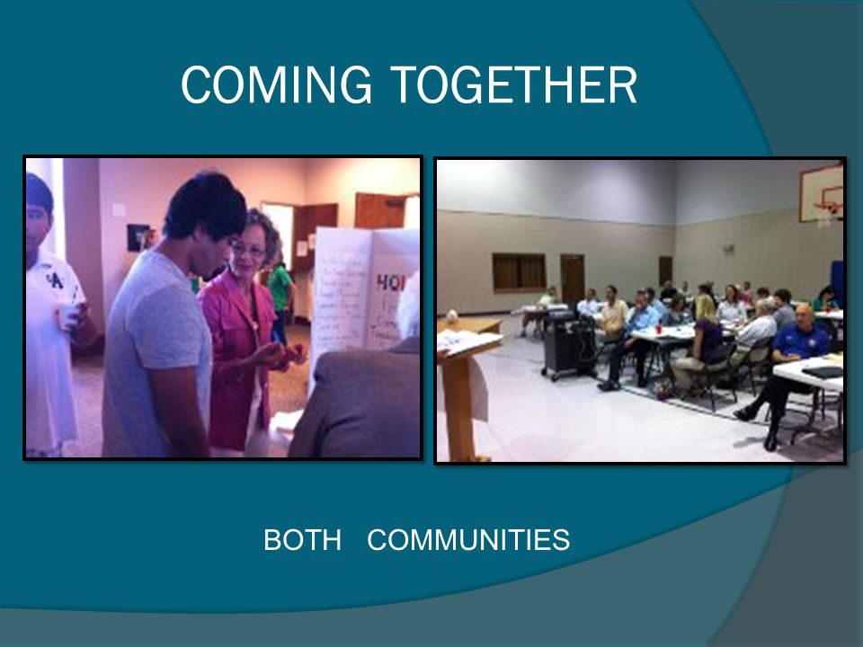 COMING TOGETHER BOTH COMMUNITIES