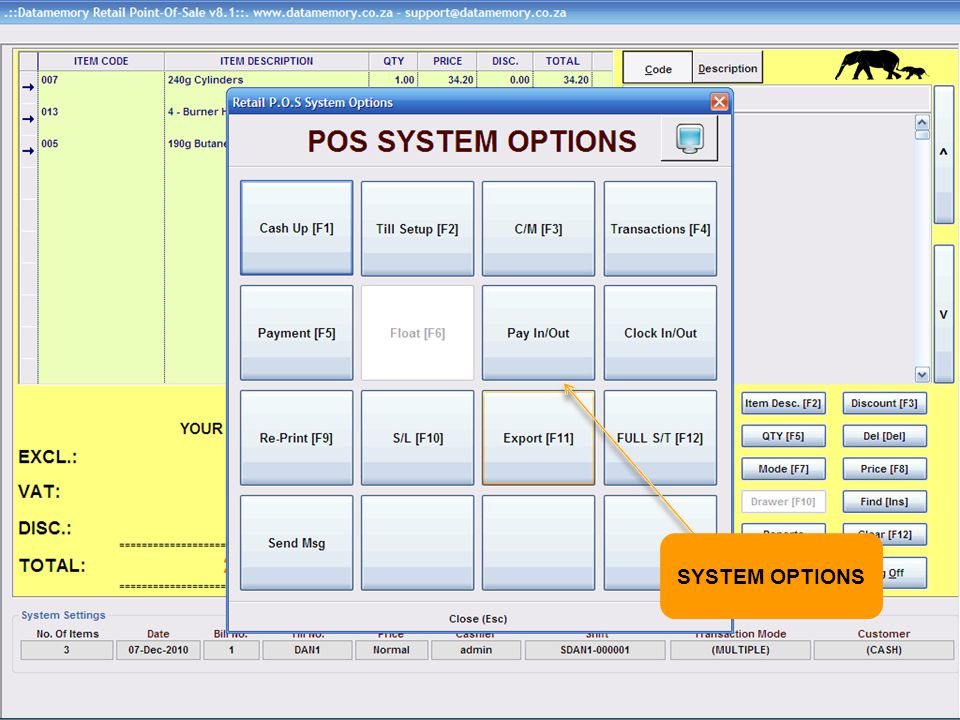 SYSTEM OPTIONS