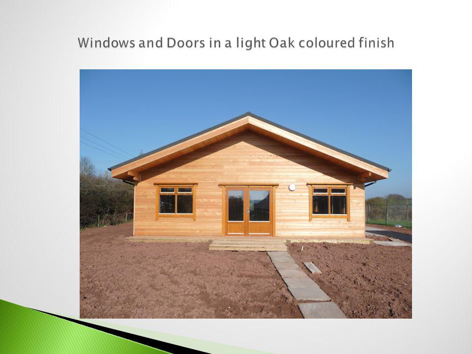Superior Scandinavian designed double glazed units Manufacturers 5 year guarantee External windows and doors glazed Argon filled low E glass All doors use toughened/laminated glass Arrive on site as factory finished, fully glazed, pre-hung sets, ready to install.