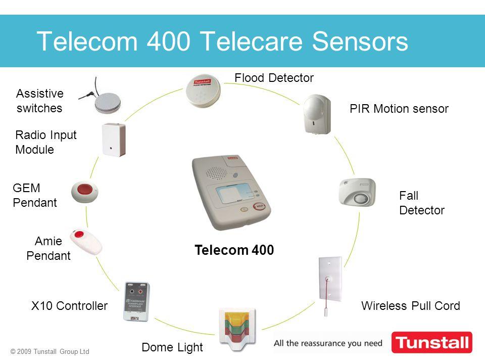 © 2009 Tunstall Group Ltd 25 © 2009 Tunstall Group Ltd Click to edit Master title style Flood Detector PIR Motion sensor Radio Input Module Fall Detec