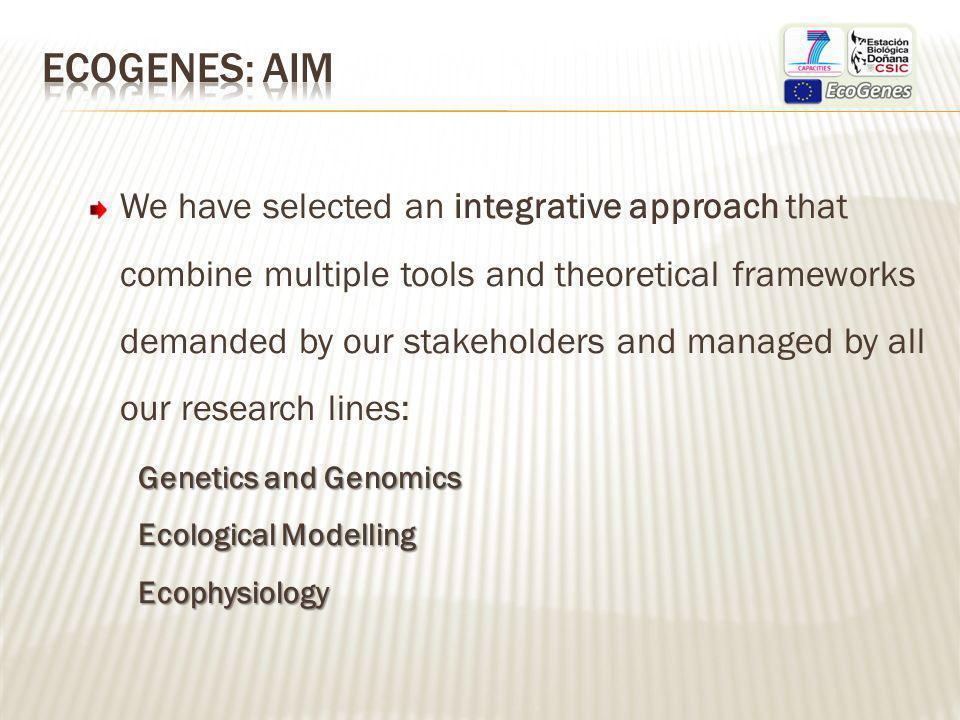 Dissemination commitment: Seminars reported on the EcoGenes web, announced through EBD-CSIC newsletter and video-taped.