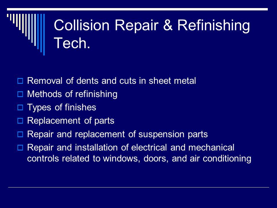 Collision Repair & Refinishing Tech.