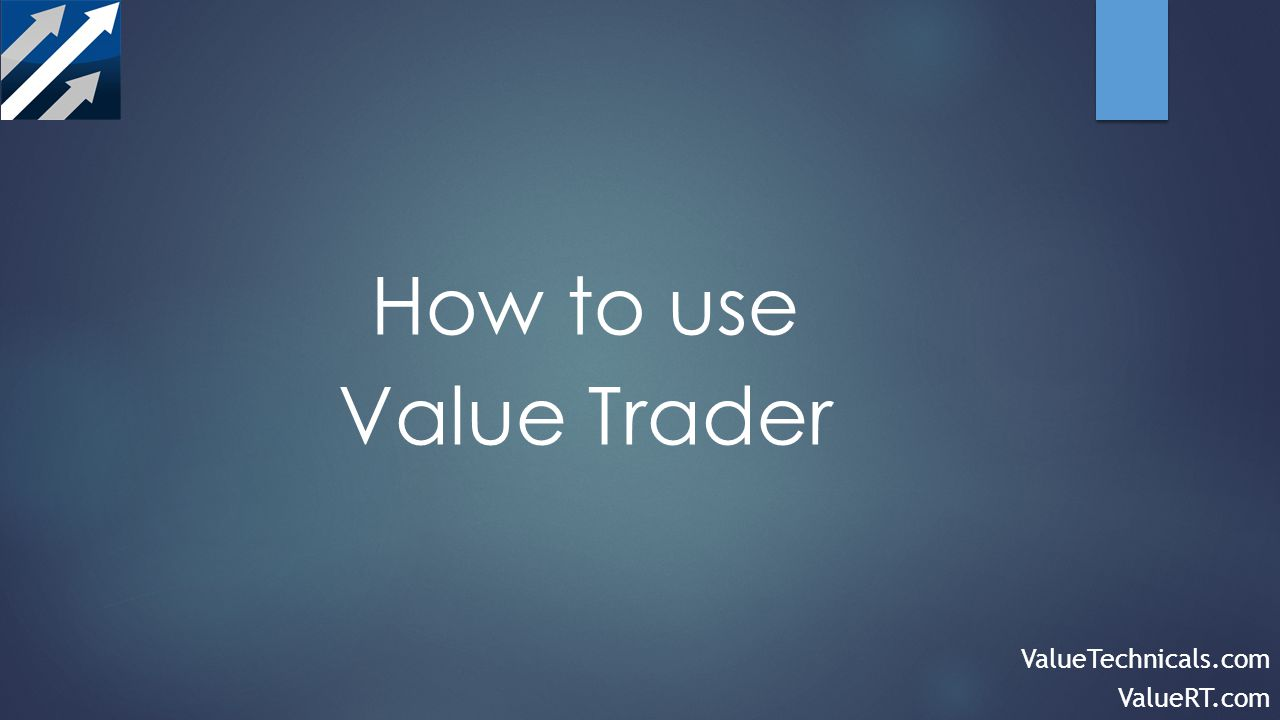 How to use Value Trader ValueTechnicals.com ValueRT.com