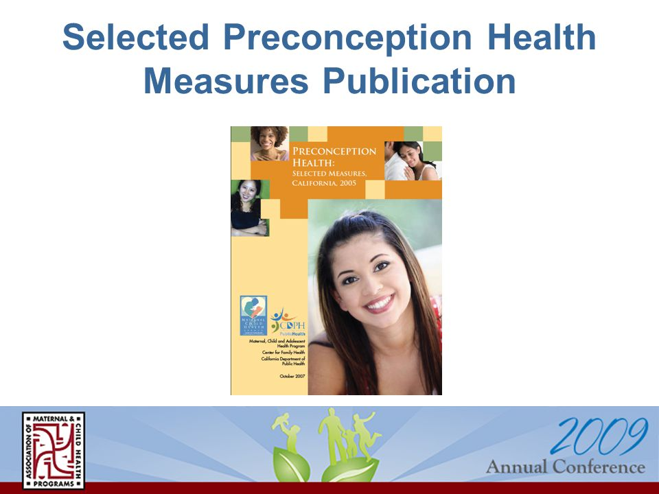 Selected Preconception Health Measures Publication