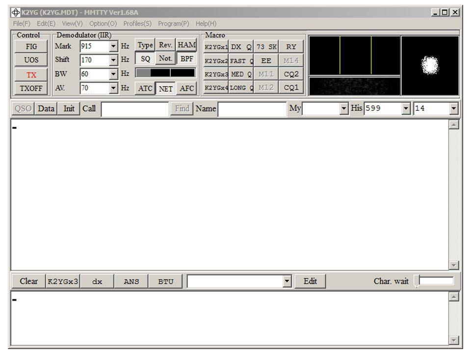 MMTTY - RTTY Software Software written by JE3HHT, Makoto Mori, thus the program name. It is free and downloadable from: http://hamsoft.ca/pages/mmtty.