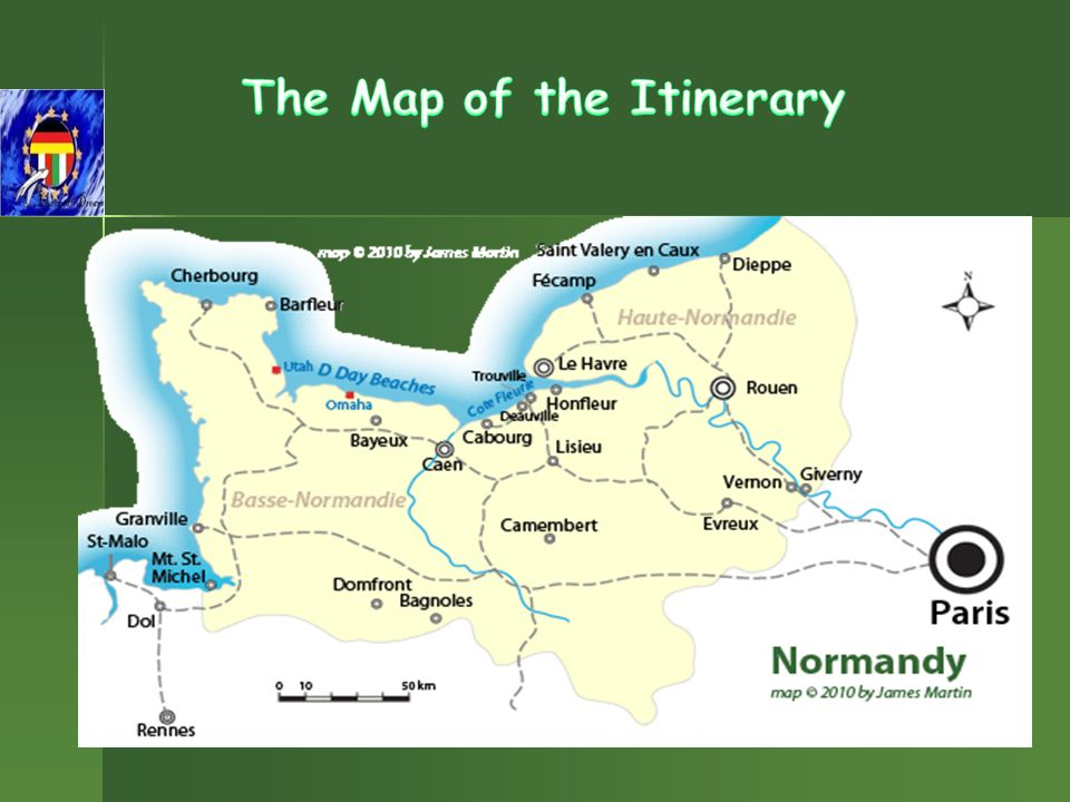 Characterized by the apple orchards, fresh cheese, rolling green landscapes and dramatic seaside cliffs, Normandy is the region of France located to the northwest of Paris along the coast of the English Channel.