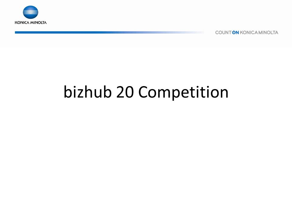 bizhub 20 Competition