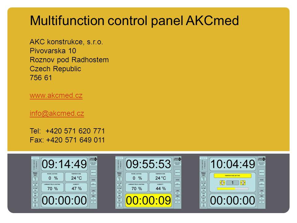 Multifunction control panel AKCmed AKC konstrukce, s.r.o.