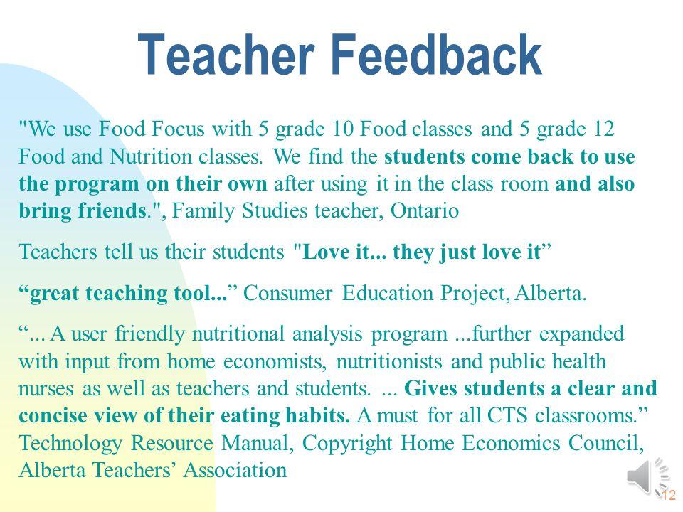 11 FoodFocus interactive training. FoodFocus Website